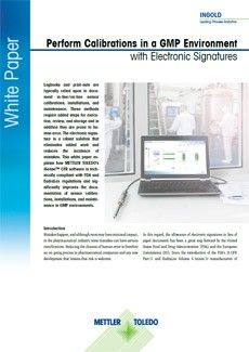 符合 GMP 电子签名要求的校准