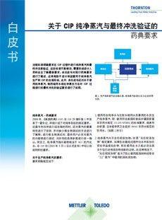 药典对于纯蒸汽及最终CIP清洁验证的规定