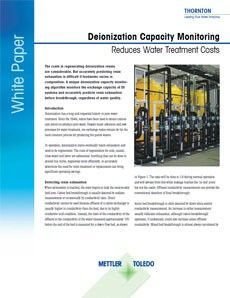 Deionization Capacity Monitoring