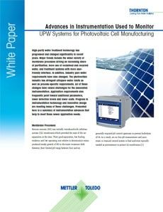 White Paper: Photovoltaic Cell Manufacturing