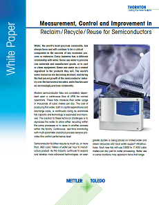 Reclaim Strategies for Semiconductor UPW White Paper
