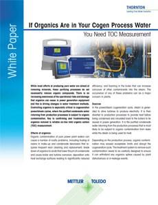 Bílá kniha: Pokud jsou ve vaší procesní vodě organické látky