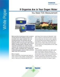White Paper: If Organics Are in Your Cogen Process Water