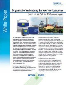 Wenn Ihr Prozesswasser organische Verbindungen enthält, sind TOC-Messungen empfehlenswert.