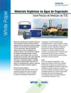 E se materiais orgânicos estiverem em seu processo de cogeração de água?