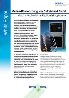 White Paper: Online-Überwachung von Chlorid und Sulfat durch Kapillarelektrophorese