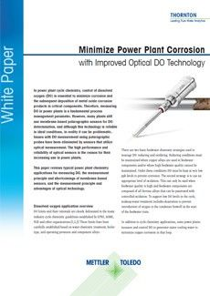 Minimize Power Plant Corrosion with Improved Optical DO Technology