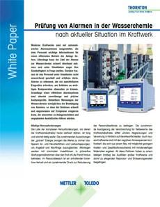 Alarme in der Wasserchemie