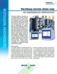 Alarmy składu chemicznego wody