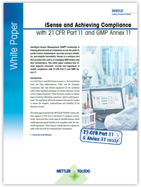 iSense and Achieving Compliance with 21 CFR Part 11 and GMP Annex 11