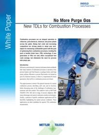 White Paper: No More Purge Gas, New TDLs for Combustion Processes