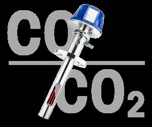 Analizador de gas del intervalo de CO₂% y CO%: GPro 500