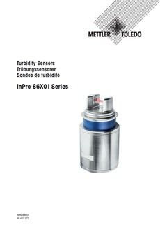 Instruction Manual for InPro 86X0 i Series Turbidity Sensors