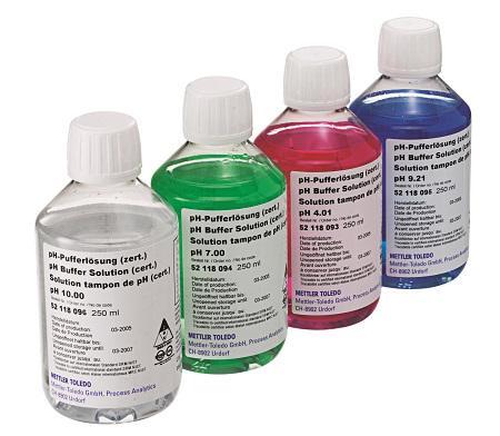 Certificats pour les solutions tampon et les électrolytes