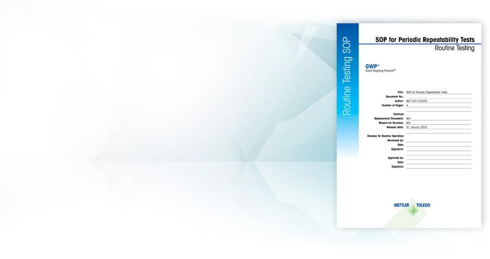 Modes opératoires normalisés pour les tests de sensibilité, de répétabilité et d'excentration de charge des balances