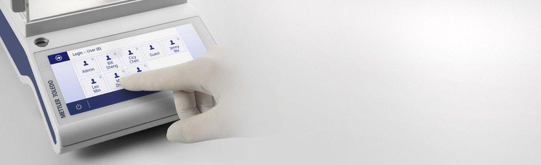 密码保护天平设置