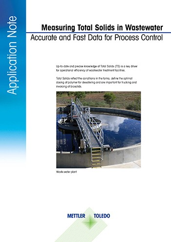 determine total solids in wastewater treatment process