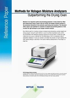 How to Develop a Drying Method for Moisture Analyzers