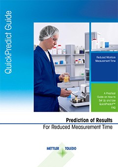 Reduced moisture measurement time. Fast moisture analysis with QuickPredict