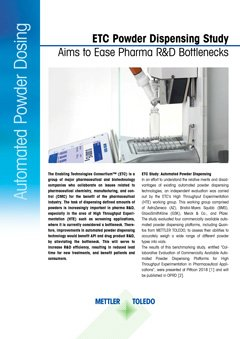 Easy Automated Powder Dispensing for Pharma and Biotech Applications