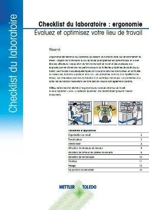 Ergonomics Checklist for Laboratory