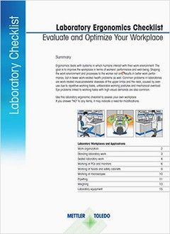 Ergonomics Checklist for Laboratory