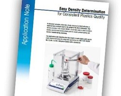Press Release: Easy Density Determination for Consistent Plastics Quality with a Free METTLER TOLEDO Application Note