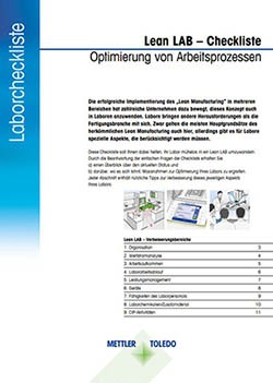 Lean-Lab-Checkliste