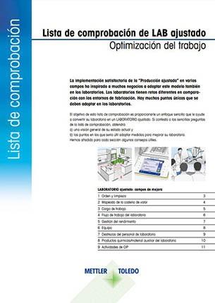 Lista de comprobación del laboratorio ajustado