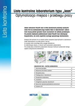 Lista kontrolna laboratorium zgodnego z filozofią lean