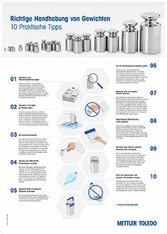Laboratorní plakát – 10 praktických tipů pro správnou manipulaci sezkušebním závažím