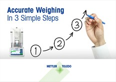 Accurate Weighing in 3 Simple Steps