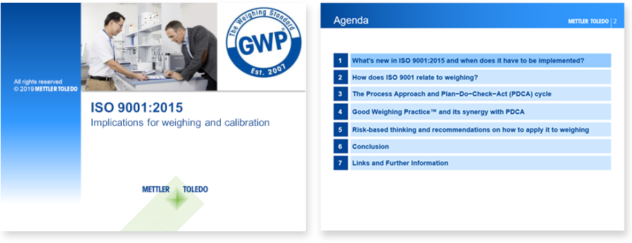 ISO 9001:2015 changes webinar for weighing