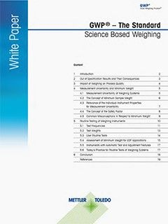 Science Based Weighing