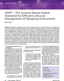 Publication in NCSLI Measure: GWP - Efficient Lifecycle Management