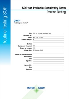 Standard Operating Procedures (SOPs) for Balance Testing