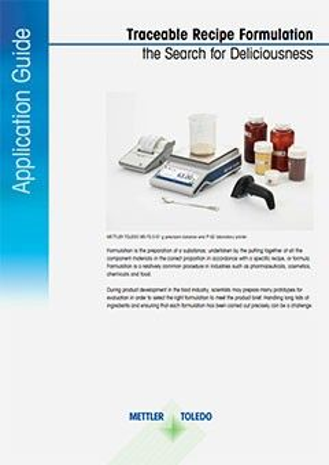 Guide d'application sur la formulation de recettes traçables à télécharger