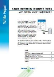 Press Release: New White Paper Describes How Verified Weight Identification Leads to Secure Traceable Balance Testing