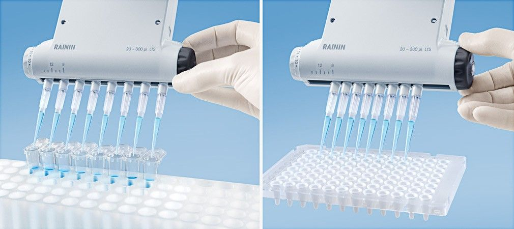 Adjustable Spacer Manual Multichannel Pipette