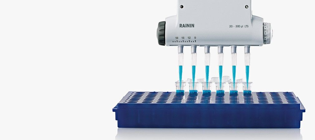 Electronic Adjustable Spacer Multichannel Pipette E4 XLS