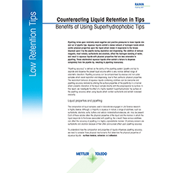 Counteracting Liquid Retention in Tips Benefits of Using Low Retention Tips