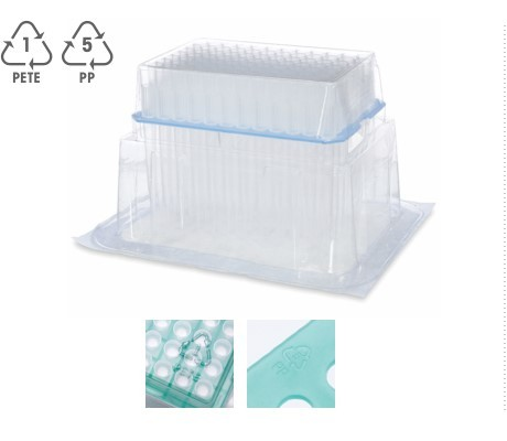 recyclable pipette tip packaging