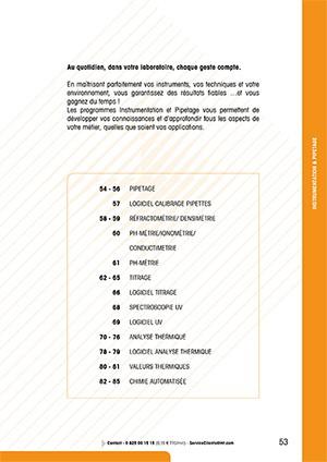 Formations instrumentation et pipetage