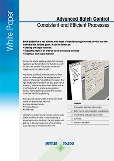 Effective Batch Control Improves Quality and Efficiency