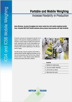 Application Note: Mobile Weighing