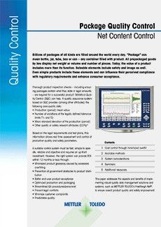 Package Quality Control Net Content Control