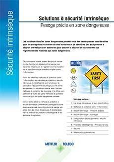 Livre blanc sur les solutions de pesage à a sécurité intrinsèque et les équipements certifiés Ex