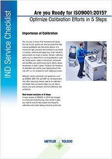 Checklist: 5 Steps to Optimize Calibration Efforts