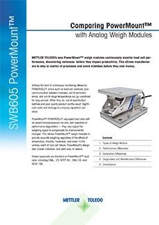 Comparing PowerMount with Analog Weigh Modules
