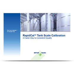 Load Cell Scale with New RapidCal™ Tank Calibration Method